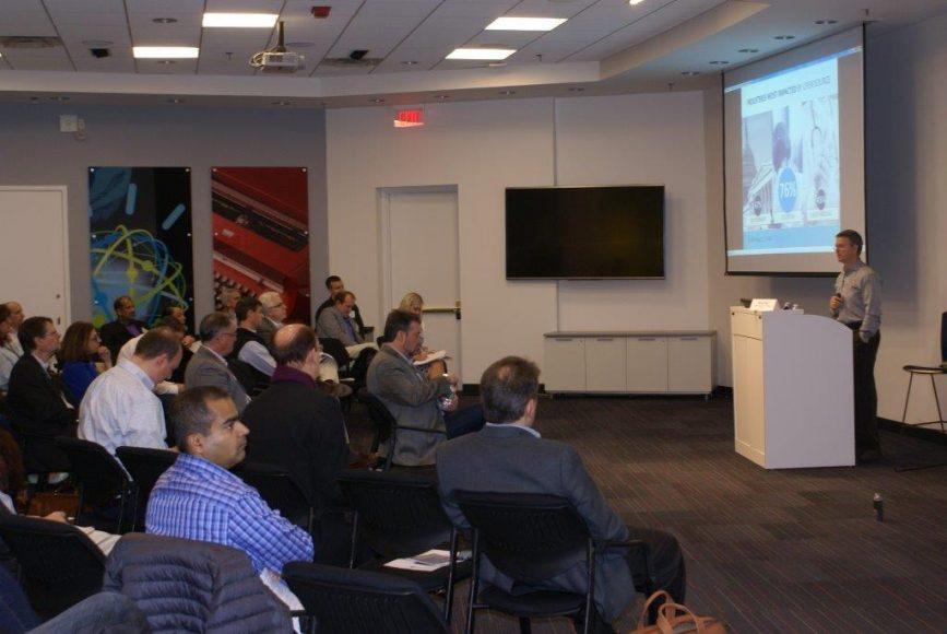 Michael Skok presenting survey highlights