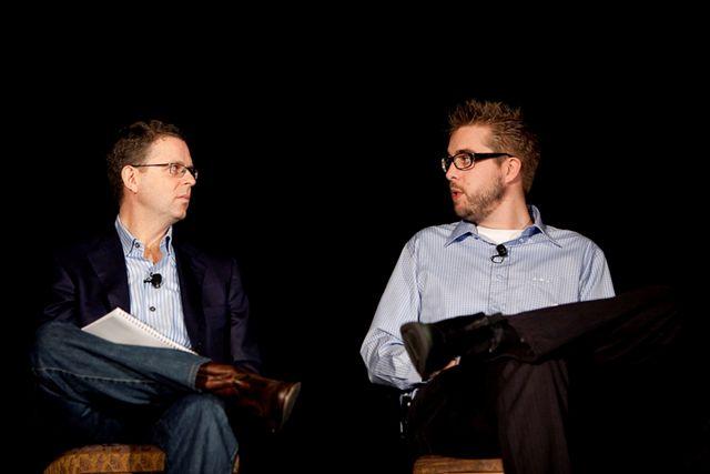 Michael Skok, NBVP and Dries Buytaert, Acquia & Drupal Project Lead